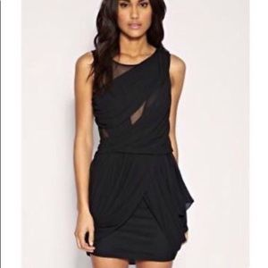 ASOS black mesh drape dress